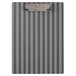 Thin Stripes - Gray and Dark Gray Clipboards