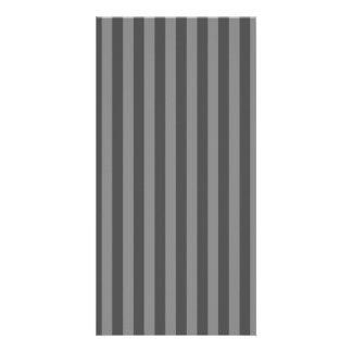 Thin Stripes - Gray and Dark Gray Customized Photo Card