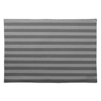 Thin Stripes - Gray and Dark Gray Placemat