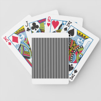 Thin Stripes - Gray and Dark Gray Poker Deck