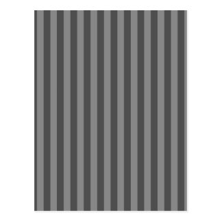 Thin Stripes - Gray and Dark Gray Postcard
