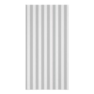 Thin Stripes - Gray and Light Gray Card