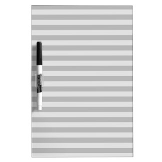Thin Stripes - Gray and Light Gray Dry Erase Board