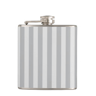 Thin Stripes - Gray and Light Gray Hip Flask