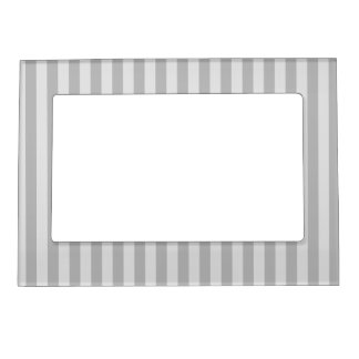 Thin Stripes - Gray and Light Gray Magnetic Frame