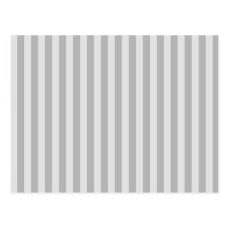 Thin Stripes - Gray and Light Gray Postcard