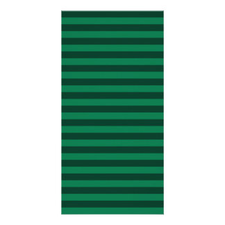 Thin Stripes - Green and Dark Green Customized Photo Card