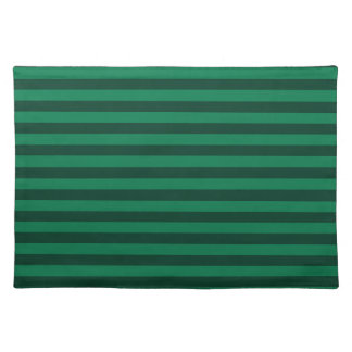 Thin Stripes - Green and Dark Green Place Mats