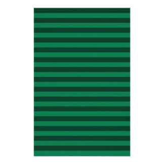 Thin Stripes - Green and Dark Green Stationery