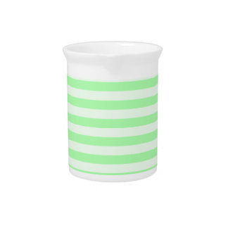 Thin Stripes - Green and Light Green Drink Pitcher