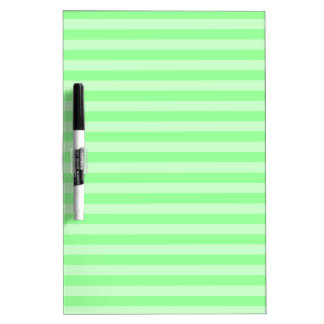 Thin Stripes - Green and Light Green Dry Erase Board
