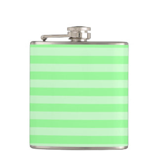 Thin Stripes - Green and Light Green Hip Flask