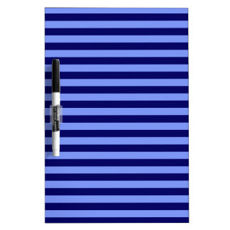 Thin Stripes - Light Blue and Dark Blue Dry Erase Board