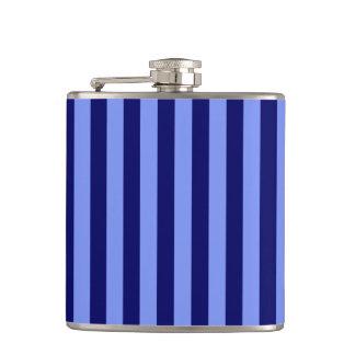 Thin Stripes - Light Blue and Dark Blue Flask