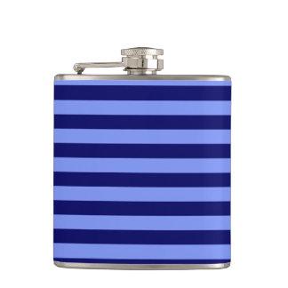 Thin Stripes - Light Blue and Dark Blue Hip Flask