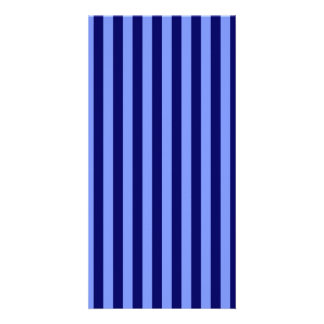 Thin Stripes - Light Blue and Dark Blue Photo Greeting Card