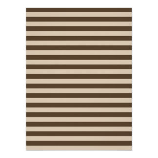 Thin Stripes - Light Brown and Dark Brown Card