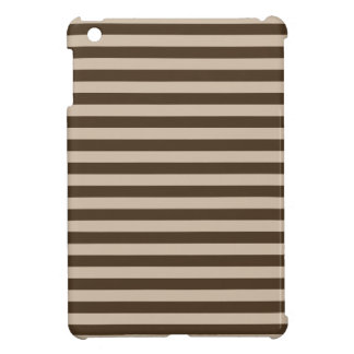 Thin Stripes - Light Brown and Dark Brown Case For The iPad Mini