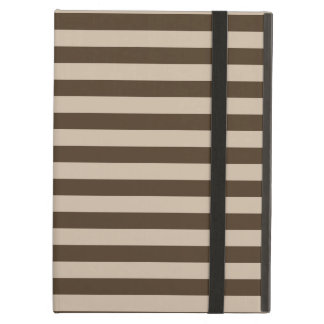 Thin Stripes - Light Brown and Dark Brown Cover For iPad Air