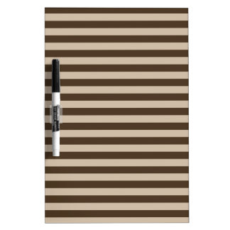 Thin Stripes - Light Brown and Dark Brown Dry Erase Board