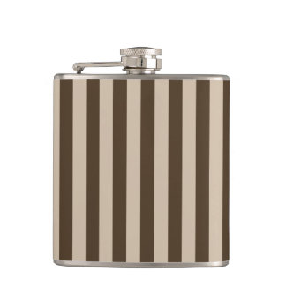 Thin Stripes - Light Brown and Dark Brown Flask