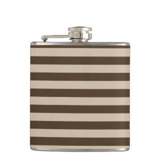Thin Stripes - Light Brown and Dark Brown Flasks
