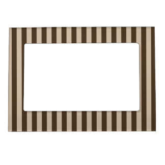 Thin Stripes - Light Brown and Dark Brown Magnetic Picture Frame