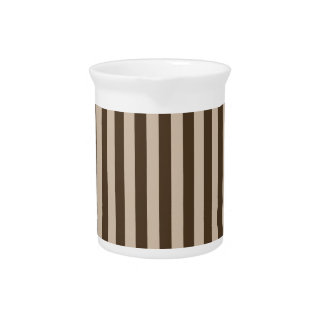 Thin Stripes - Light Brown and Dark Brown Pitcher