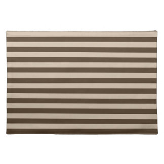 Thin Stripes - Light Brown and Dark Brown Place Mats