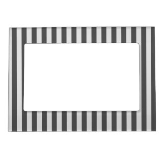 Thin Stripes - Light Gray and Dark Gray Magnetic Picture Frame