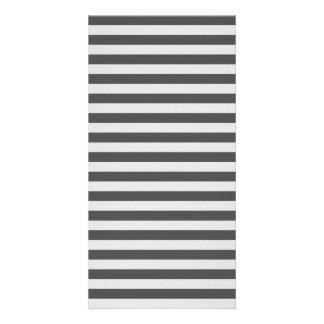 Thin Stripes - Light Gray and Dark Gray Photo Card Template