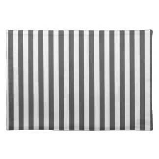 Thin Stripes - Light Gray and Dark Gray Placemat