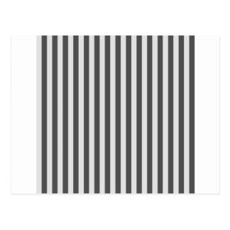 Thin Stripes - Light Gray and Dark Gray Postcard