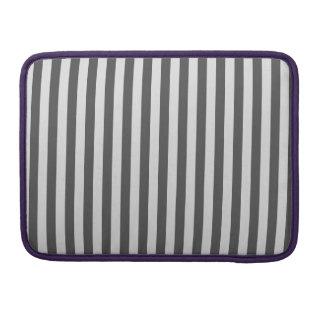 Thin Stripes - Light Gray and Dark Gray Sleeve For MacBooks