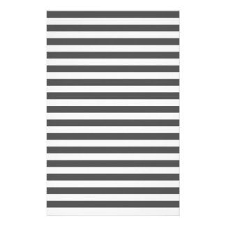 Thin Stripes - Light Gray and Dark Gray Stationery