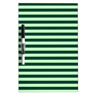 Thin Stripes - Light Green and Dark Green Dry Erase Board