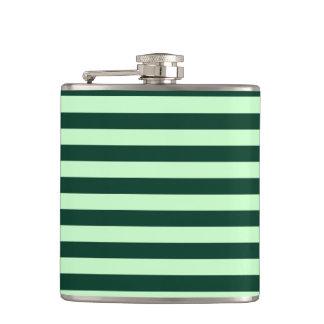 Thin Stripes - Light Green and Dark Green Flask