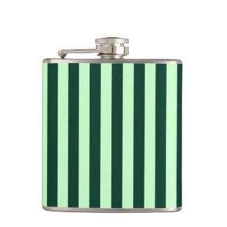 Thin Stripes - Light Green and Dark Green Flasks
