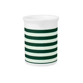 Thin Stripes - Light Green and Dark Green Pitcher