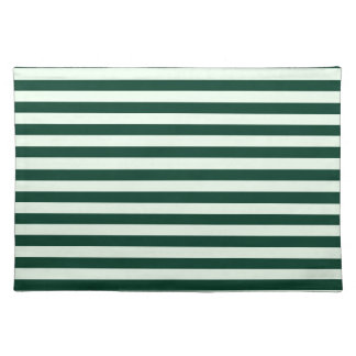 Thin Stripes - Light Green and Dark Green Placemats
