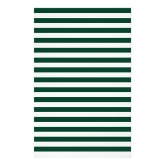 Thin Stripes - Light Green and Dark Green Stationery