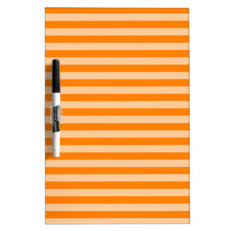 Thin Stripes - Light Orange and Dark Orange Dry Erase Board