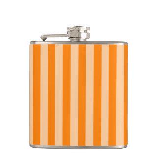 Thin Stripes - Light Orange and Dark Orange Flask