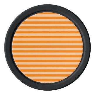 Thin Stripes - Light Orange and Dark Orange Poker Chips