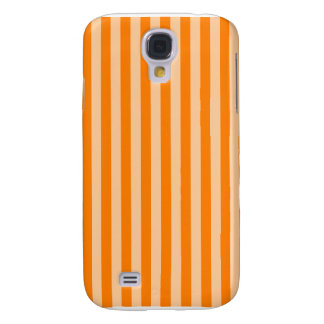 Thin Stripes - Light Orange and Dark Orange Samsung Galaxy S4 Cases