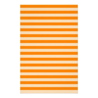 Thin Stripes - Light Orange and Dark Orange Stationery