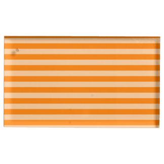 Thin Stripes - Light Orange and Dark Orange Table Card Holder
