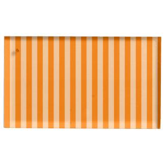 Thin Stripes - Light Orange and Dark Orange Table Card Holders