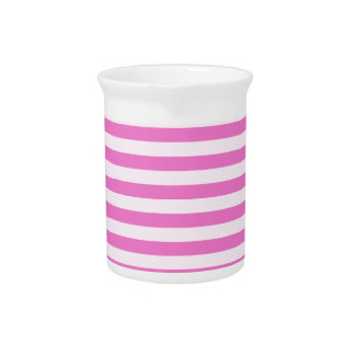 Thin Stripes - Light Pink and Dark Pink Pitcher