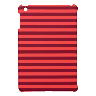 Thin Stripes - Light Red and Dark Red Cover For The iPad Mini
